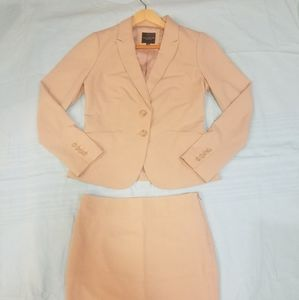 The Limited cream tan suit